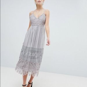 SALE🍁 Oh My Love Lace Cami Midi Dress